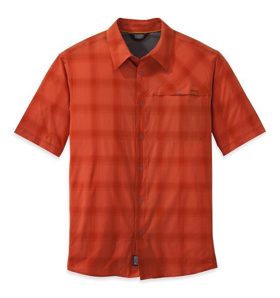 Outdoor Research Astroman Kortærmet Skjorte Hot Sauce - Medium - 6-9 år thumbnail
