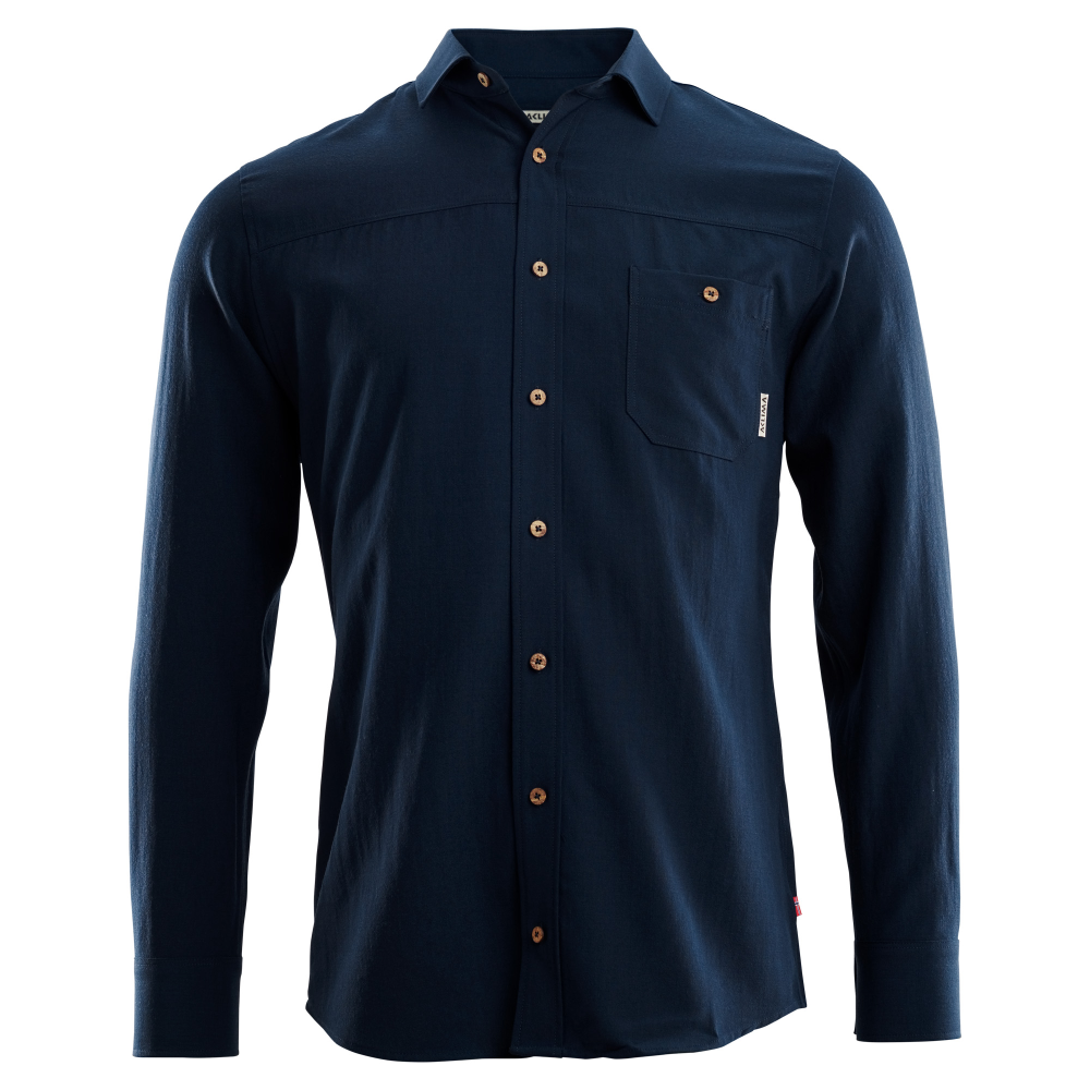 Leisurewool Woven Wool Shirt Man Navy Blazer - XS thumbnail
