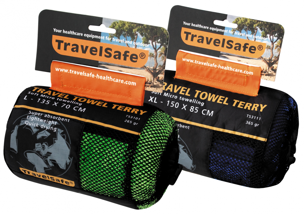 Travelsafe TravelTowel Terry L 70x135 Lime Green thumbnail