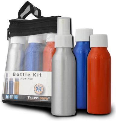 Travel Bottles Alu - 3 pcs. thumbnail