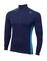 ACLIMA Warmwool Mock Neck with zip Man Peacoat Brilliant Blue