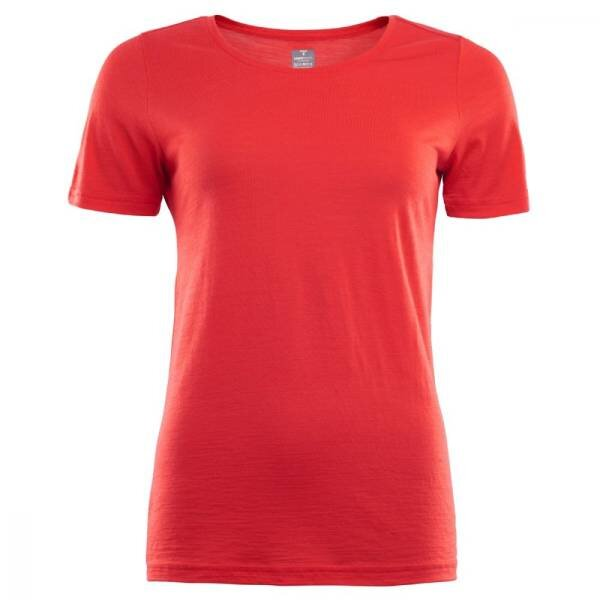 ACLIMA Lightwool T-shirt Round Neck Woman High Risk Red