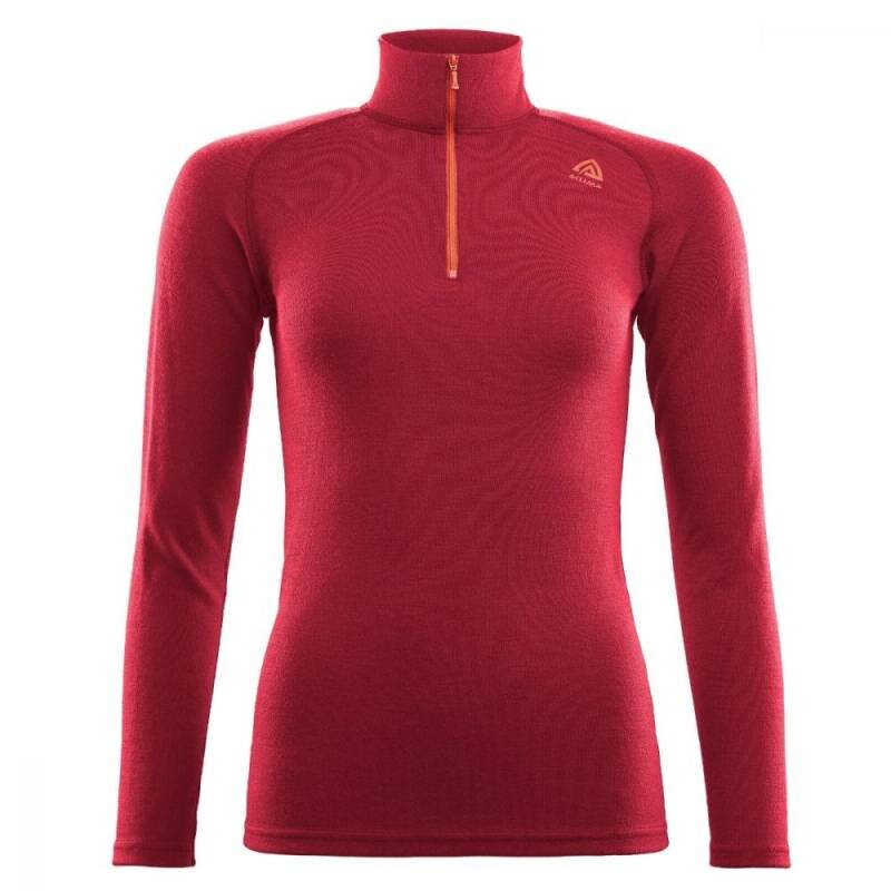 ACLIMA Warmwool Mock Neck w/zip Women Chili Pepper thumbnail