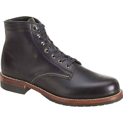 Evans 1000 Mile Boot Black Leather