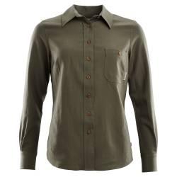 Aclima - Leisurewool Woven Wool Shirt Woman Ranger Green - Front