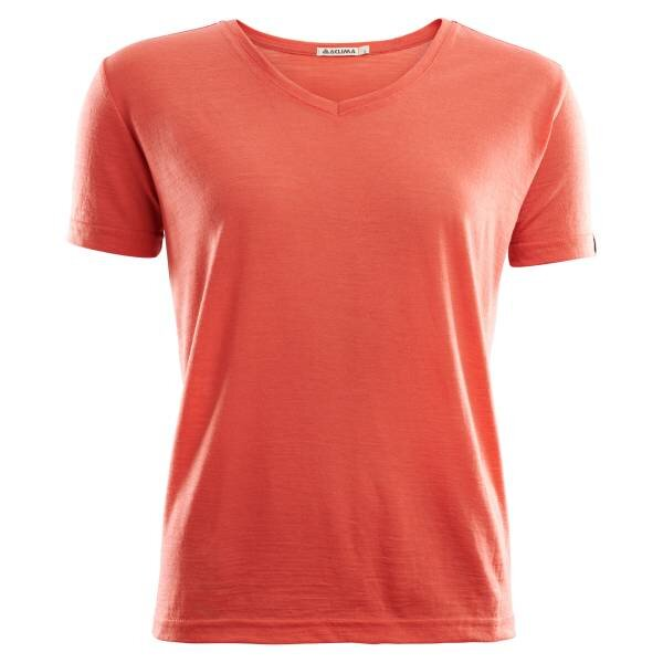 Aclima Lightwool T-Shirt Loose Fit Woman - Burnt Sienna frontside