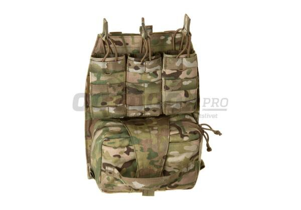 Back Panel With MED Pouch and Triple M4 5.56 - Multicam