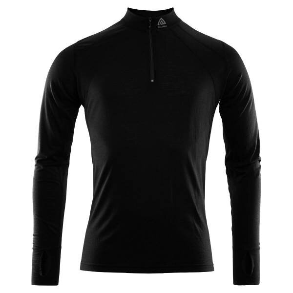 ACLIMA Lightwool Zip Shirt Man Jet Black
