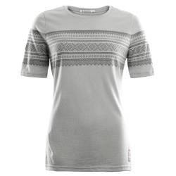 Aclima Designwool Marius T-Shirt Woman Paloma Grey / Castle Rock - outdoorpro.dk