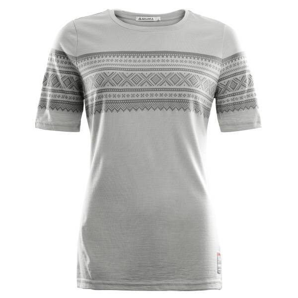 Aclima Designwool Marius T-Shirt Woman Paloma Grey / Castle Rock - outdoorpro.dk
