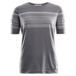Aclima Designwool Marius T-Shirt Woman Castle Rock / Paloma Grey  - outdoorpro.dk