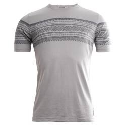 Aclima Designwool Marius T-Shirt Man Paloma Grey / Castle Rock  - outdoorpro.dk