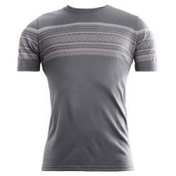 Aclima - Designwool Marius T-Shirt Man Castle Rock / Paloma Grey - outdoorpro.dk