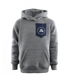 Aclima Fleecewool Hoodie Junior - Grey melange / Navy Blazer - outdoorpro.dk
