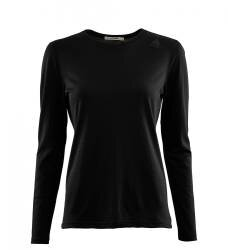 Aclima Lightwool Undershirt LS Women - Jet Black - outdoorpro.dk