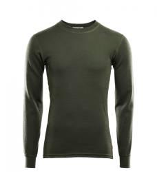 Aclima Warmwool Crew Neck Shirt Mens - Olive Night - front - outdoorpro.dk