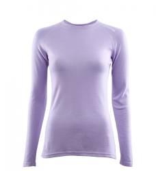 Aclima Warmwool Crew Neck Shirt Women - Purple Rose - front - outdoorpro.dk