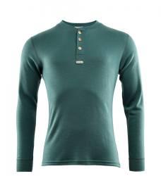 Aclima Warmwool Granddad Shirt Mens - North Atlantic - front - outdoorpro.dk