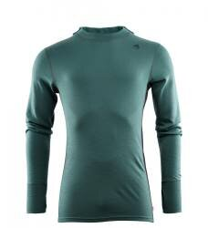 Aclima - Warmwool Hood Sweater Mens - North Atlantic / Jet Black - front - outdoorpro.dk