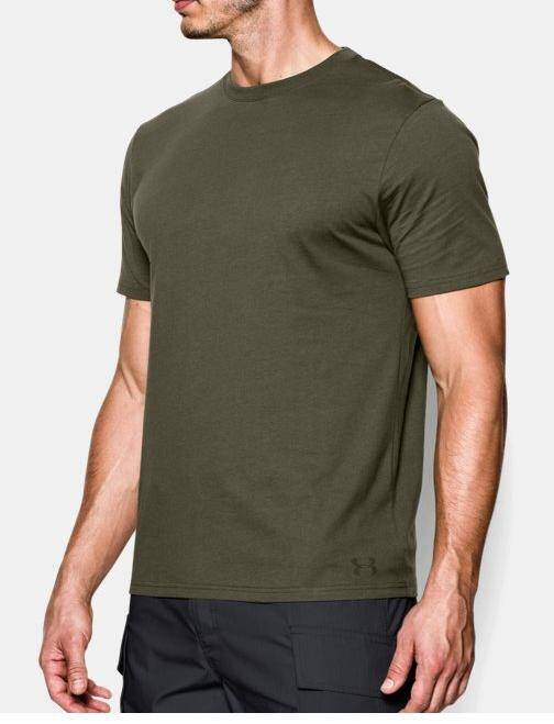 UA Tactical HeatGear Charged Cotton Tee, OD thumbnail