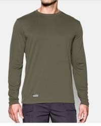 UA Tactical HeatGear Tech Long Sleeve Tee, OD