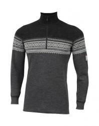 ACLIMA DesignWool Marius Mock Neck with zip Men Norefjell