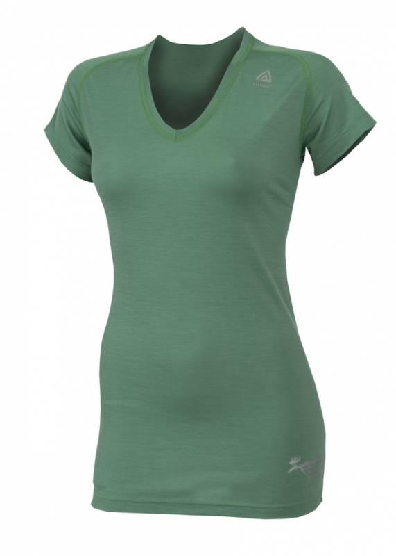 ACLIMA Lightwool Womens V-neck Tshirt Grøn thumbnail